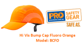 PROCHOICE BCFO HI VIS BUMP CAP FLUORO ORANGE