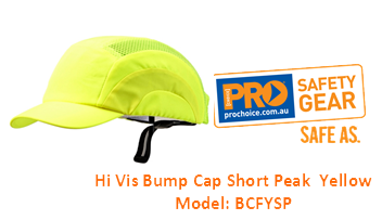 PROCHOICE BCFYSP HI VIS BUMP CAP SHORT PEAK YELLOW