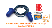 PROCHOICE EPBMDC PROBELL METAL DETECTABLE CORDED EARPLUG