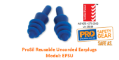 PROCHOICE EPSU PROSIL REUSABLE UNCORDED EARPLUGS