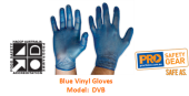 PROCHOICE DVB BLUE VINYL GLOVES