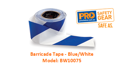 PROCHOICE BW10075 BARRICADE TAPE - BLUE/WHITE