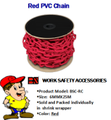 BS BSC-RC RED PVC CHAIN