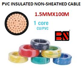 PVC INSULATED NON-SHEATHED CABLE 1.5MMX100M