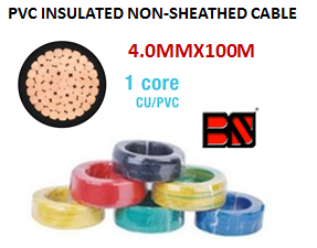 PVC INSULATED NON-SHEATHED CABLE 4.0MMX100M