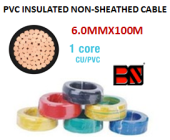 PVC INSULATED NON-SHEATHED CABLE 6.0MMX100M