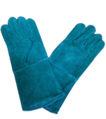 GREEN LEATHER WELDING GLOVE