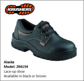 ALASKA BLACK LACE-UP SHOE