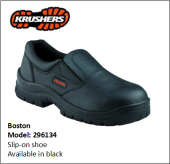 BOSTON BLACK SLIP-ON SHOE