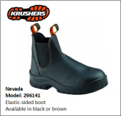 NEVADA BLACK ELASTIC-SIDED BOOT