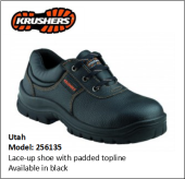 UTAH BLACK LACE-UP SHOE