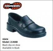 ADELE BLACK SLIP-ON SHOE