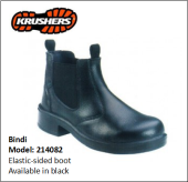 BINDI BLACK ELASTIC-SIDED BOOT
