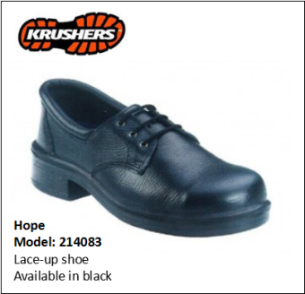 HOPE BLACK LACE-UP SHOE