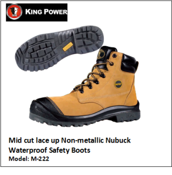 MID CUT LACE UP NON-METALLIC NUBUCK WATERPROOF SAFETY BOOTS