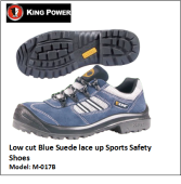 LOW CUT BLUE SUEDE LACE UP SPORTS SAFETY SHOES