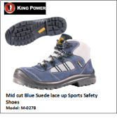 MID CUT BLUE SUEDE LACE UP SPORTS SAFETY SHOES