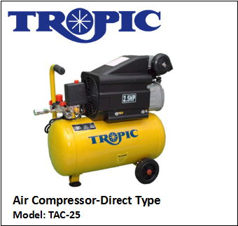 TAC-25 AIR COMPRESSOR-DIRECT TYPE