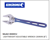 "KINCROME K040052 LIGHTWEIGHT ADJUSTABLE WRENCH 200MM (8"")"