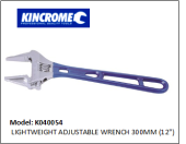 "KINCROME K040054 LIGHTWEIGHT ADJUSTABLE WRENCH 300MM (12"")"