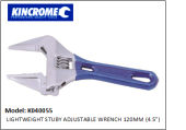"K040055 LIGHTWEIGHT STUBY ADJUSTABLE WRENCH 120MM (4.5"")"