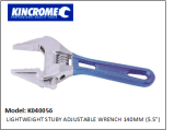 "K040056 LIGHTWEIGHT STUBY ADJUSTABLE WRENCH 140MM (5.5"")"