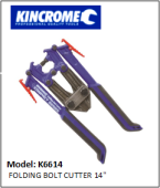 KINCROME K6614 FOLDING BOLT CUTTER 14""