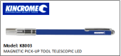 KINCROME K8003 MAGNETIC PICK-UP TOOL TELESCOPIC LED