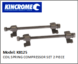 KINCROME K8125 COIL SPRING COMPRESSOR SET 2 PIECE