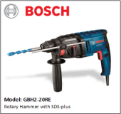 BOSCH GBH2-20RE Rotary Hammer with SDS-plus