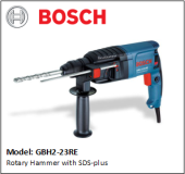 BOSCH GBH2-23RE Rotary Hammer with SDS-plus