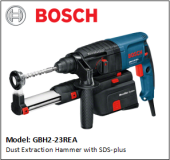 BOSCH GBH2-23REA Dust Extraction Hammer with SDS-plus