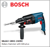 BOSCH GBH2-26DRE Rotary Hammer with SDS-plus