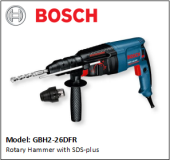 BOSCH GBH2-26DFR Rotary Hammer with SDS-plus