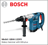 BOSCH GBH4-32DFR Rotary Hammer with SDS-plus