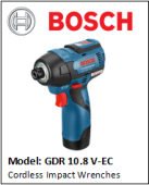BOSCH GDR10.8V-EC Cordless Impact Wrenches