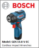 BOSCH GDS10.8V-EC Cordless Impact Wrenches