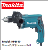 MAKITA HP1630 - 16mm (5/8'') Hammer Drill