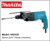 MAKITA HR2020 20mm (3/4'') Rotary Hammer