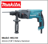 MAKITA HR2230 22mm (7/8'') Rotary Hammer