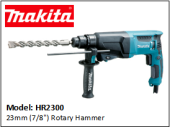 "MAKITA HR2300 23mm (7/8"") Rotary Hammer"