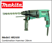 "MAKITA HR2630 Combination Hammer 26mm (1"")"