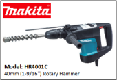MAKITA HR4001C 40mm (1-9/16'') Rotary Hammer