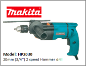 MAKITA HP2030 20mm (3/4'') 2 speed Hammer drill