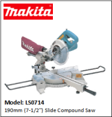 MAKITA LS0714 190mm (7-1/2'') Slide Compound Saw