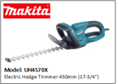 "MAKITA UH4570X Electric Hedge Trimmer 450mm (17-3/4"")"