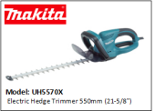 "MAKITA UH5570X Electric Hedge Trimmer 550mm (21-5/8"")"