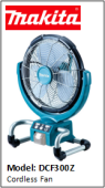 MAKITA DCF300Z Cordless Fan