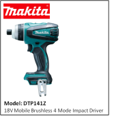 MAKITA DTP141Z 18V MOBILE BRUSHLESS 4 MODE IMPACT DRIVER