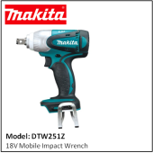 MAKITA DTW251Z MOBILE IMPACT WRENCH 18V